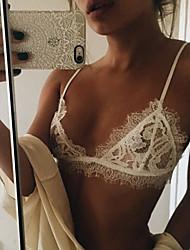 Feminino Lingerie com Renda Roupa de Noite,Sexy / Rendas Renda Branco Mulheres