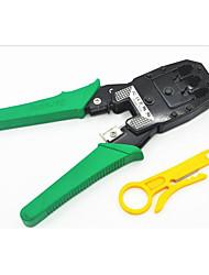 cabo alicates, descascando um alicate, envie faca três kit ferramenta de rede multifuncional