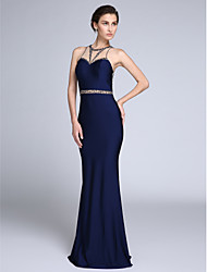 TS Couture®Formal Evening Dress Trumpet / Mermaid Jewel Sweep / Brush Train Tulle / Jersey with Beading