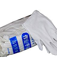 algodão branco seguro de luvas de trabalho de trabalho de algodão grosso