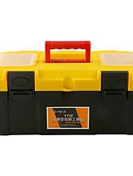 grossa amarela de plástico caixa de ferramentas multifunções portáteis home / carro (17 polegadas)