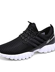Zapatos de Hombre-Zapatillas de deporte-Casual-PU-Negro