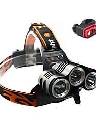 Lanternas de Cabeça / Luzes de Bicicleta / Luz Frontal para Bicicleta Cree XM-L T6 CiclismoProva-de-Água / Recarregável / Resistente ao