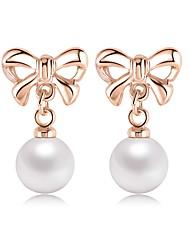 Boucle Forme Ronde / Forme de Noeud Bijoux 1 paire Imitation de perle / Mode Mariage / Soirée / Quotidien / DécontractéAlliage /
