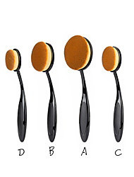 2016 New Arrival 4Pcs Big Foundation Toothbrush Brushes Makep Brush Set Loose powder Oval Big Cosmetic Tool