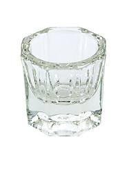 1pcs Manicure Crystal Glass Cup