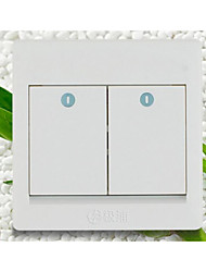 86 de doble control de socket interruptor de la pared interruptor / hogar