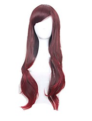 Fashion Daily Wearing Wigs Wine Red Wavy Curly Sexy Club Party Wig