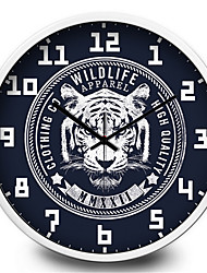 The Classic White Tiger Home Furnishing Decorative Mute Quartz Wall Clock