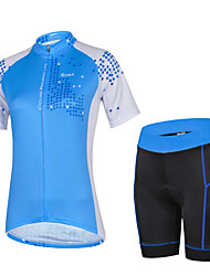 Sport Fahrradtriktot mit Fahrradhosen Damen Kurze Ärmel Fahhrad Atmungsaktiv / SchweißableitendTrikot + Shorts/Radtrikot+Kurze Radhose /