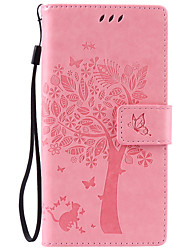 Body collant Support de Carte / Strass / résister Couleur unie Cuir PU Doux Card Holder Couverture de cas pour SonySony Xperia XA / Sony