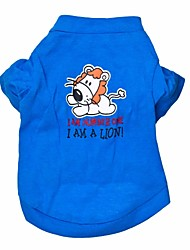 Gatos / Perros Camiseta Azul Verano Animal Moda, Dog Clothes / Dog Clothing-Other