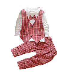 Baby School Print Clothing Set,Cotton Fall-