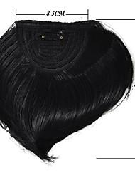 1pct pacote de clipes de retas em extensão de cabelo sintético franja bangs estilo chinês