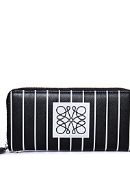 NAWO Long wallet cowhide han edition high-capacity stripes. Lady hand bag with zip zero wallet