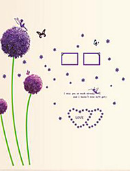 Purple Dandelion Wall Stickers Romance Decoration Wall Poster 45*60CM Home Decor Flower Wall Decals