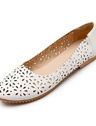 женская обувь плоский каблук комфорт / круглые квартиры пальца ноги платье / вскользь черный / синий / розовый / белый