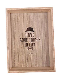 6 inch homburg pattern wooden photo frame