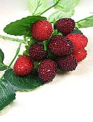 1PC 9 Fruit Decoration Flower Artificial Fruit Paddle Strawberry Photo Props Artificial Plant