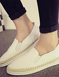 Women's Flats Summer Comfort / Closed Toe PU Casual Flat Heel Others Black / White