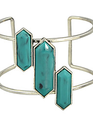 Plated Rhinestone Cuff Bracelet