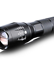Lights LED Flashlights/Torch LED 1000 Lumens 5 Mode Cree T6 Other Adjustable Focus Waterproof Everyday Use Metal