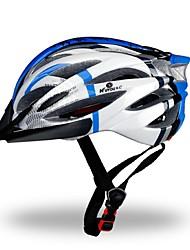 Helm(Weiß / Rot / Blau,PC / EPS) -Berg / Strasse / Sport- für Damen / Herrn / Unisex 18 ÖffnungenRadsport / Bergradfahren /