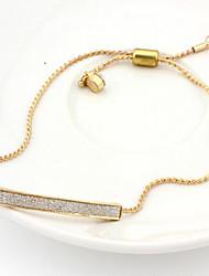 Chain Bracelets 1pc,Golden / Silver Bracelet Adjustable Geometric Diamond Jewelry