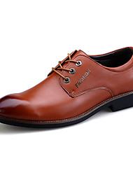 мужские оксфорды случайные / партии / офис&карьера / привод моды случайные PU кожа обувь EU38-eu43