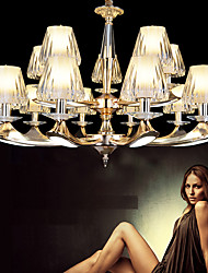 15Lights  European Style Chandelier Crystal Luxury 2 Tiers LED Pendant Lights