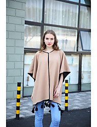 Women Polyester Scarf,Vintage / Casual RectangleSolid