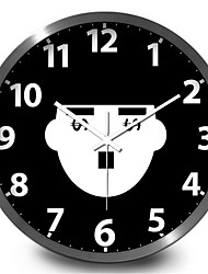 Chaplin Home Furnishing Humor Study The Living Room Decorative Metal Wall Clock