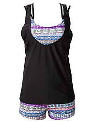 Womens Halter Three Pieces Boho Tribal Swimsuit(S-3XL)