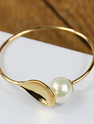 Fashion exaggerated pearl spoon Bracelet