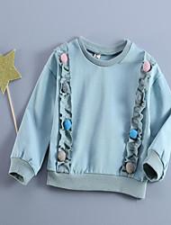 Для девочек Ткань средней плотности Неэластичная Для девочек Блуза,С короткими рукавами,Хлопок,Лето / Осень