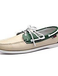 Men's Shoes Amir New Style Office / Casual Lace-up Green / Red / Brown Comfort Flat Heel Loafers Boat Shoes