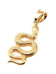 316L Stainless Steel Pendant Gold Snake