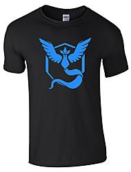 Inspirado por Pocket Monster Pequeño monstruo Vídeo Juego Disfraces Cosplay Cosplay de la camiseta Geométrico / Estampado NegroManga