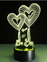 Led Lights Love Heart 3d Touch Table Lamp for Wedding Decoration  Night Lights as  Gifts Color-Changing Night Light