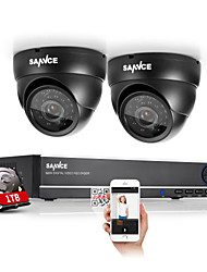 SANNCE® 4CH Full 960H CCTV DVR Video Surveillance Recorder 800TVL Cameras CCTV System