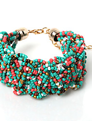 Beadia 1Pc Fashion Glass Seed Beads Bohemia Bracelet 20cm Women Bangle