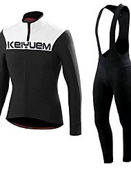 KEIYUEM®Spring/Summer/Autumn Long Sleeve Cycling Jersey+long Bib Tights Ropa Ciclismo Cycling Clothing Suits #L48