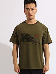 Others Men's Soft Leisure Sports T-shirt Army Green