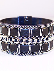 Bracelets For Women Fashion Jewelry With High-grade Leather Chain Suction Alloy Magnetic Clasp