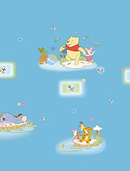 DIY Winnie The Pooh Cartoon Animals Butterfly Wall Stickers Fashion Children's Bedroom Kindergarten Wall Decals
