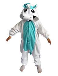 Kigurumi Déguisements d'animaux Halloween / Noël / Carnaval / Le Jour des enfants / Nouvel an Jaune / Bleu Couleur Pleine Polaire