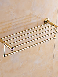 Bathroom Shelf / Polished Brass / Wall Mounted /60*15*10 /Brass /Contemporary /60 15 1.427