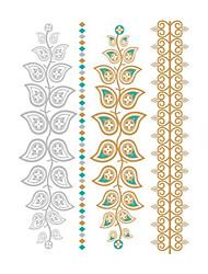 1 Tatouages Autocollants Séries de fleur Non Toxic / Waterproof / Metallic / MariageHomme / Femme / Adulte / Adolescent flash Tattoo