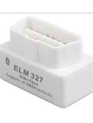 MINI CD elm327 obd2 bluetooth v1.5 Mini detector de coche blanco