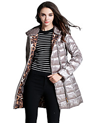 Women's Lightweight Hooded Mid-length Coat Jacket Parkas with Belt